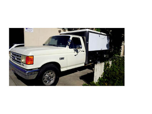 1989 FORD F250 UTILITY - ac radio low original miles new tires runs good ready to go to work