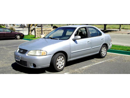 2002 NISSAN SENTRA auto 4cyl good cond 4dr AC CD smogged slvg ttle new tires runs great V