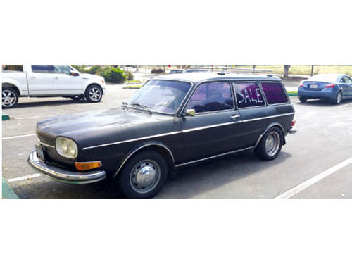 1972 VW 411 - 4cyl auto fuel injection 3spd rebuilt motor suspension needs shocks 3995 obo ca