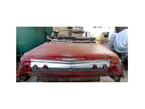 1962 CHEVY IMPALA CONV - 2dr Roman Red paint Corvette motor 350 4bolt main turbo 350 trans from a