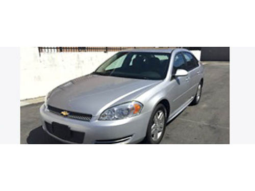 2012 CHEVROLET IMPALA Sedan auto 66655K miles 6 cyl FWD 4 door silver metalic w gray int ful
