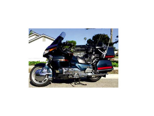 1989 HONDA GOLDWING ASPENCADE - 1500 62K miles must see to appreciate metallic blue has reverse