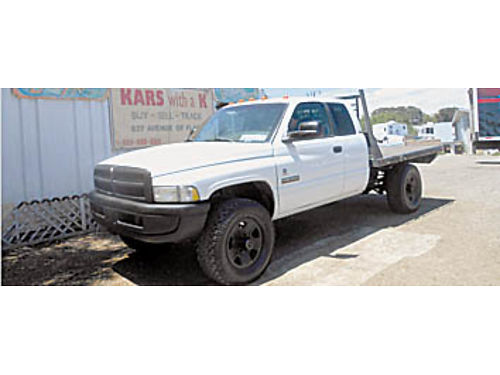 1999 DODGE FLATBED - DIESEL locking hubbs 4x4 loaded Pseats 174334 10995 KARS with a K