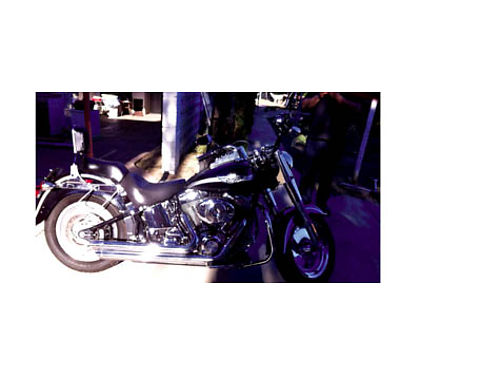 2003 HARLEY DAVIDSON SOFT TAIL FAT BOY Anniversary ed 5K miles Vance Hines exh currant tags re
