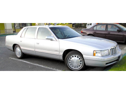 1999 CADILLAC DEVILLE auto V8 114K mi well maint full tune up AC stereo all orig htd lthr