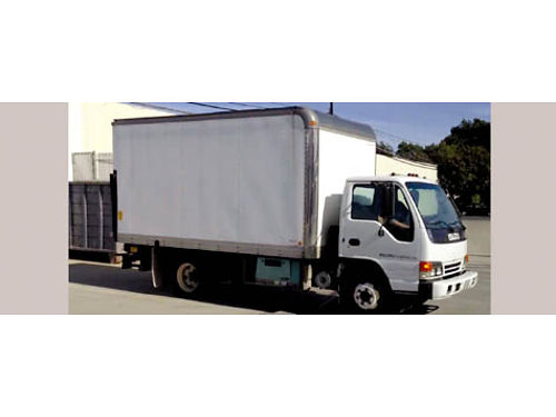 2002 ISUZU NPR BOX TRUCK 16 box auto 8 cyl 113K mi clean title hydraulic rear lift dual rear