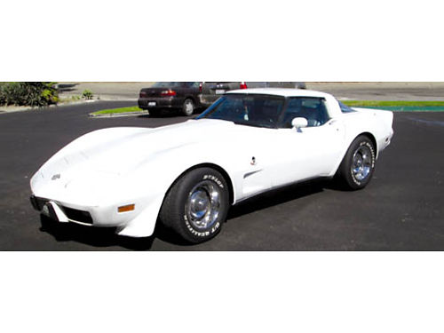 1978 CHEVY CORVETTE Anniversary Edition auto V8 64K orig mi all matching s all pwr T-Tops