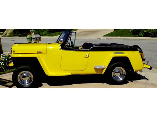 1949 WILLYS JEEPSTER 350 Chevy 350 auto trans needs chrm and top refreshed has a 28 gal alum fue