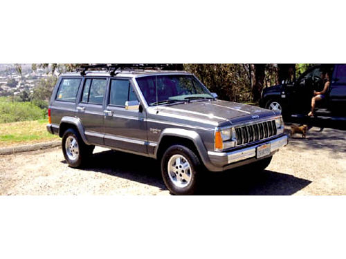 1988 JEEP CHEROKEE LAREDO - 2WD auto 32K orig miles ac pwr seats rfrck Thule 4 person bike car