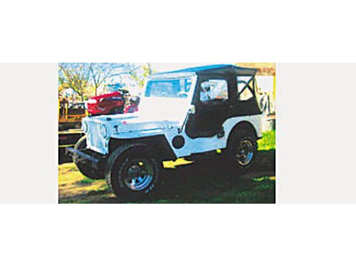 1947 JEEP CJ 2A - Buick V6 new trans rebuild new top front tires carb water pump radiator br