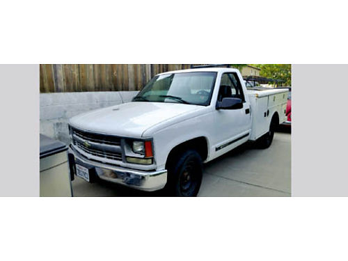 1999 CHEVY 2500 UTILITY auto V8 Stahl boxes tool chest H-Bar tow pkg brand new HD tires rblt