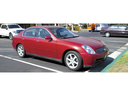 2003 INFINITI G35 auto 6cyl all pwr AC lther new CD tires belts hoses brks 68K mi clean
