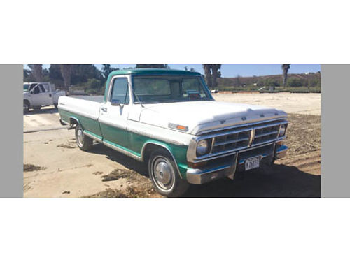 1971 FORD F100 Custom Sport all original just over 100K mi 350 engine ext no rust straight body