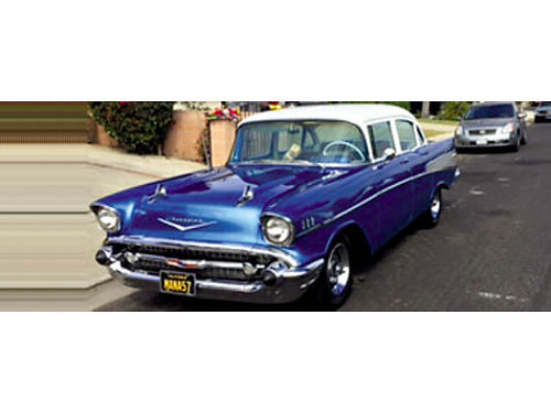 1957 CHEVY BELAIR - 4 doors Orig 283 daily driver almost perfect cond wipers do not work always