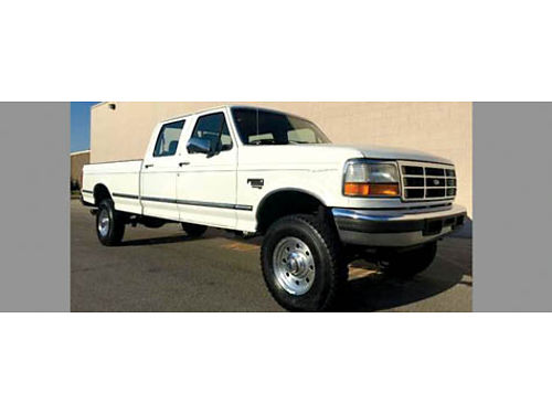1995 FORD F350 CREW CAB XLT 4x4 longbed Turbo Diesel 73L AC CD mag whls newer tires bedline