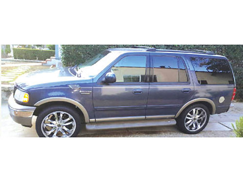 2002 FORD EXPEDITION EDDIE BAUER - auto 46L 3rd seat AC lthr sound syst fully loaded 22 chr