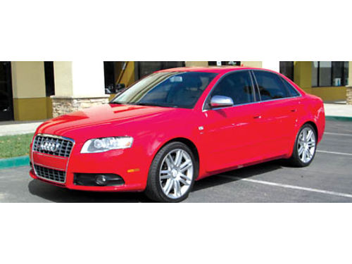 2007 AUDI S4 42L V8 6 spd manual Quattro AWD Red all pwr NaviCD AC lthr Recaro seats snr