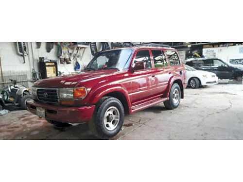 1996 TOYOTA LANDCRUISER 4x4 beautiful cust paint on straight body auto 6 inline eng all pwr lt
