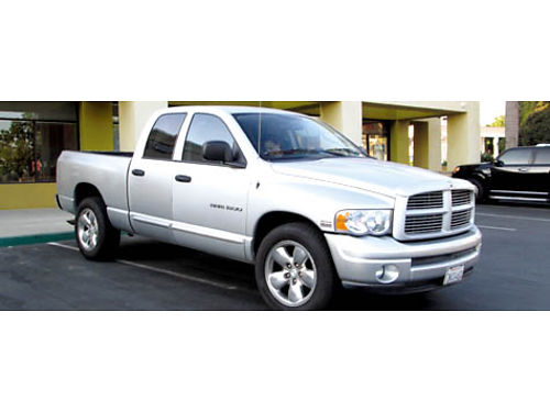 2004 DODGE RAM 1500 QUAD CAB SLT 4x4 57L V8 Hemi auto AC CD all pwr 115K mi keyless entry