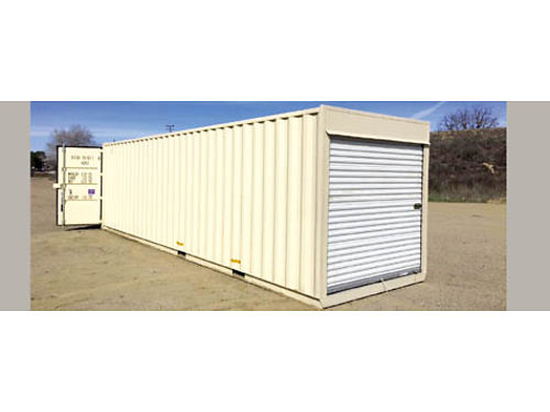 NEW STORAGE CONTAINER 8 X30 Roll up door on one end and cargo doors on the other end Tunnel unit