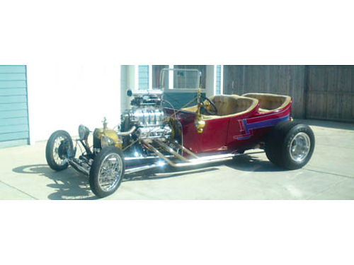 1928 T-BUCKET ROADSTER 350 eng 871 Blower Jag rear end 4 whl disc real Hot Wheels car 4 seater