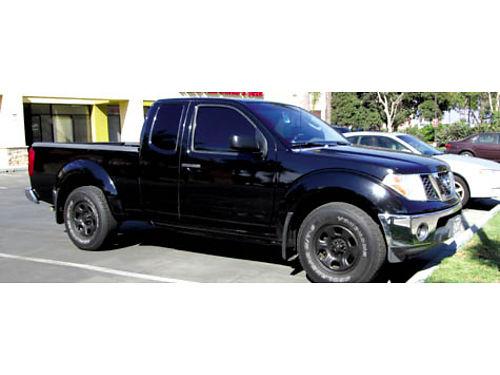 2008 NISSAN FRONTIER EXT CAB auto 4cyl all power AC CDDVDTV alarm 74K miles clean title x