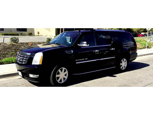 2007 CADILLAC ESCALADE ESV loaded sunroof rear entertainment second row bucket seats leather r