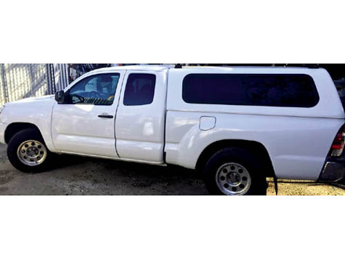 2011 TOYOTA TACOMA KING CAB - 2 wd white cust stereo wboombox 127000 miles auto auto 4cyl b