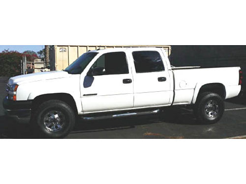 2005 CHEVY SILVERADO 2500 CREW CAB 4x4 HD Duramax Diesel auto V8 fully loaded lthr Bluetooth r
