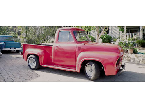 1954 FORD F100 pickup looks  runs good rebuilt Chevy V8 350 eng with only 500 miles Chevy 350