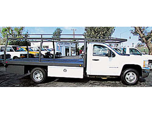 2008 CHEVY 3500 - FLATBED 60L gas auto AC lumber rack 89K miles 158428 14999 MODERN FLEE