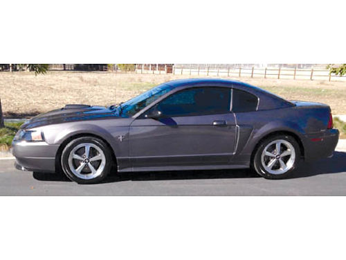 2003 FORD MUSTANG MACH I grey auto fully loaded 80K mi well maint orig owner like new orig b