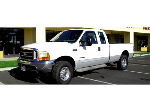 2001 FORD F250 EXT CAB XLT 4x4 73L Turbo Diesel 149K mi Banks exhst brk spray in bedliner to