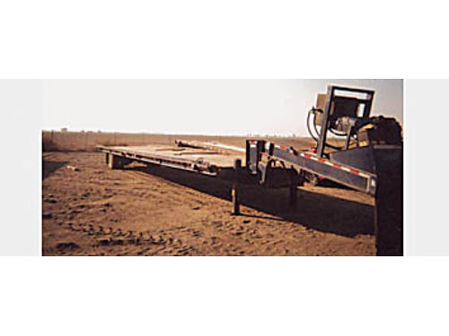 1987 TRAILER Container trailer has its own pony motor  hydraulics load  off load sea trains