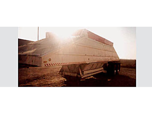 SEMI BELLY DUMP TRAILER - White with red boards chrome wheels ready to go to work 7000 obo