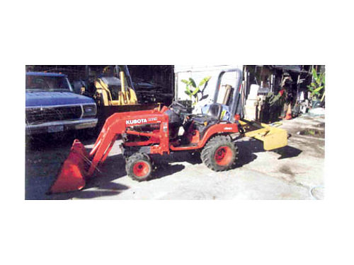 2005 KUBOTA SKIPLOADER BX2200 LA211 gannon rippers 3 cyl diesel only 70 hrs like new but seat