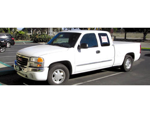 2003 GMC SIERRA EXT CAB SLE covered bed smog current tags hi fwy miles very good cond Oxnard