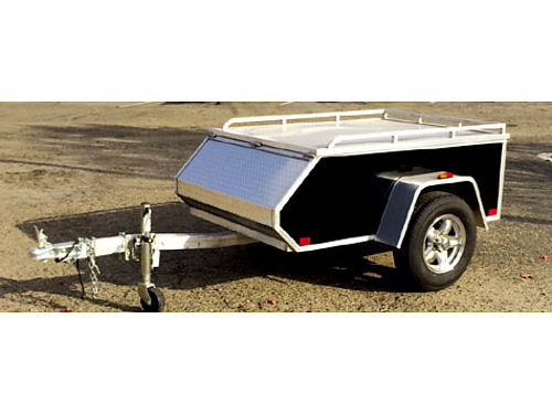 2014 ALUMA AE 46 TRAILER 4 ft x 6 ft hinged diamond plate LED lights aluminum wheels 1500 Deal
