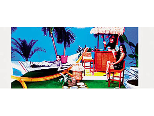DELUXE HATTERAS HAMMOCK with Roman Arch stand Beautiful Tiki Bar Accessories included As seen on