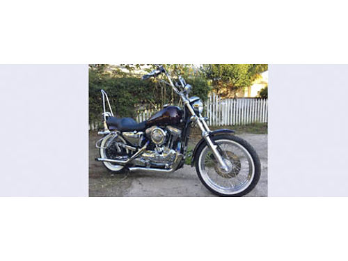1996 HD SPORTSTER Screaming Eagle1200cc bored to 1600cc 24K mi cust chrm wskulls ext foot pegs