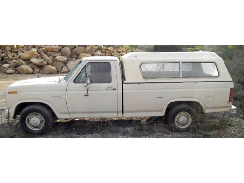 1980 FORD F150 auto 6 cyl was Grandpas truck -117K miles longbed camper shell clean interior