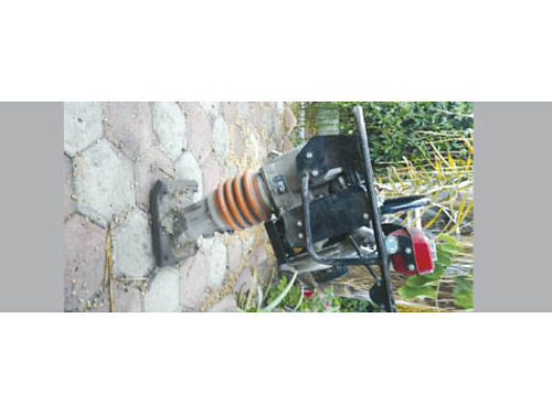 MIKASA RAMMER TAMPER JUMPING JACK Walk behind Compactor Used Diesel good cond eng guards low v