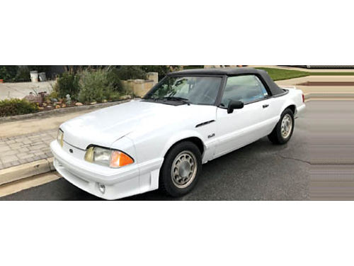 1990 FORD MUSTANG CONVT GT 50 L auto V8 16K miles on rblt eng fresh paint top replaced 8 mo a