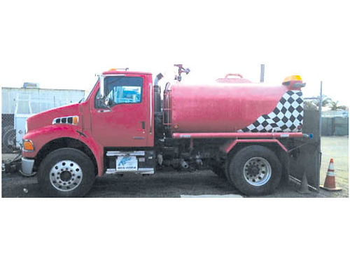FIRE OR WATER TRUCK 2001 Sterling CAT 3116 Allison auto 1800 gal tank only 18K miles remote wa