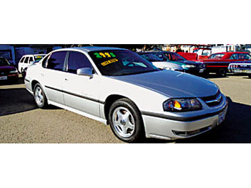 2001 CHEVY IMPALA LS - Loaded PW PL Pseats leather moonroof CD 220677 2995 KARS with a K