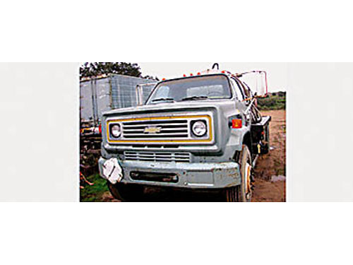 WATER TRUCK 70s series Chevy 427 propane engine LP gas 5-spd trans 2-spd rear end 1500 Gal SS