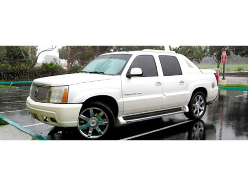 2004 CADILLAC ESCALADE EXT auto V8 lthr 89420 mi fully loaded 22 upgraded Cadi whls new tir