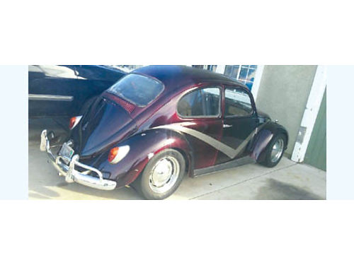 1966 VW BEETLE 1600 cc carbed registered new brakes  steering wheel runs good 65K mi se habl