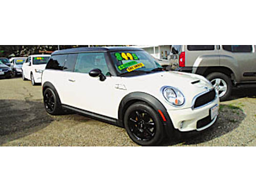 2010 MINI COOPER CLUB S - Turbo 6 speed 43 MPG barn door third door run flat tires P7578 84
