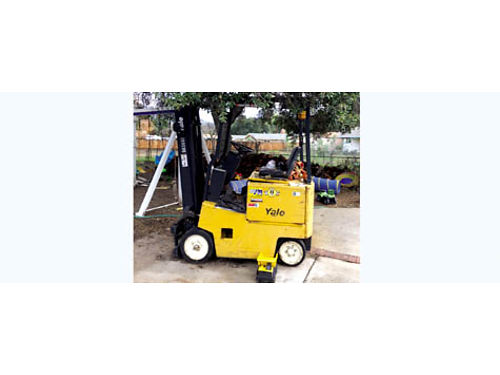 YALE FORKLIFT ELECTRIC warehouse must go non polluting indoor - 0 emmissions 3485 credit card